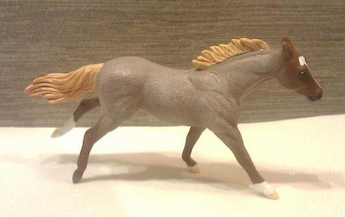 Caryn's horse (in progress). Can you believe that's her first roan?