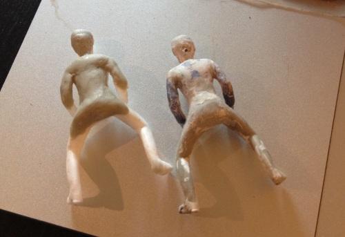 Left: halfsy-rider, right: original sculpt