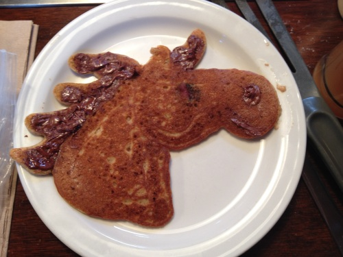 birthday pancake horse