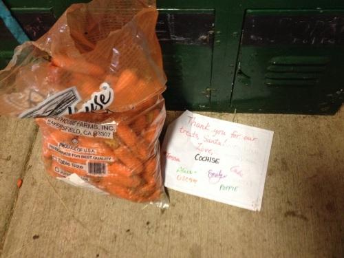 Carrots from Santa