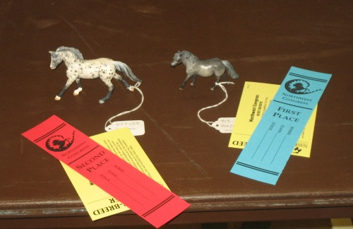 Two of my pastelled horses winning 1st and 2nd in Appaloosa Workmanship at NW Congress 2012