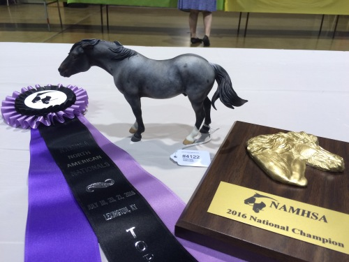 Erin's incredible grumpy pony winning Champion Other Pure/Mix Pony. ES Sir Kix-a-lot was customized by Emilia Kurila.